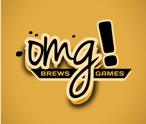 OMG Brews Games - Black on Orange