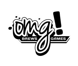 OMG Brews Games - Black on White on Clear